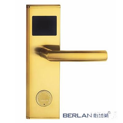 BERLAN伯兰美智能锁智能酒店锁金钢系列直板金色III-FC-03