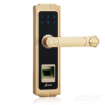 YIWO亿沃智能锁智能商用版墨香清韵指纹锁密码锁直板砂金ZX7000F