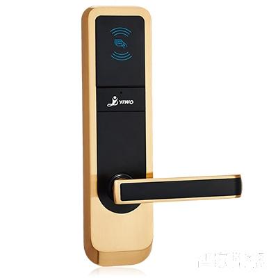 YIWO亿沃智能锁钢显本色酒店智能锁刷卡锁直板ZX5000B