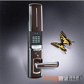天固智能锁密码感应锁手指可360º旋转识别、人性化的语音操作提示TG8800P-BW
