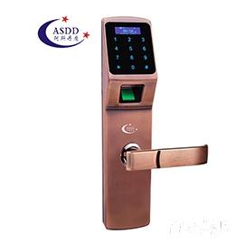 阿斯丹盾智能家居指纹密码锁C级360度空转叶片锁芯、全程语音提示A1388