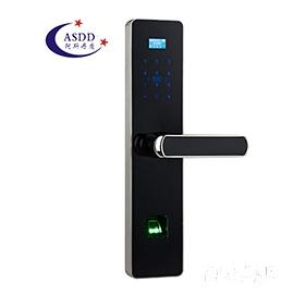 阿斯丹盾智能家居指纹密码锁C级360度空转叶片锁芯、全程语音提示A2888