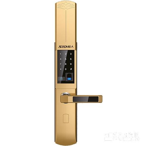 SID超人智能锁入户门指纹锁密码锁滑盖黄金色SID-H8235