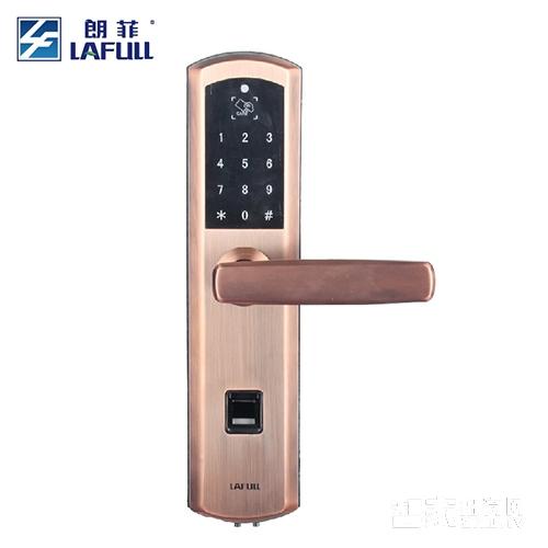 朗菲智能锁指纹锁密码锁磁卡锁直板不锈钢材质三色可选LF606