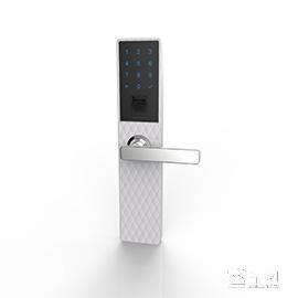 传通智能锁时尚白-大菱格版四种开门方式、锌合金材质CT-01