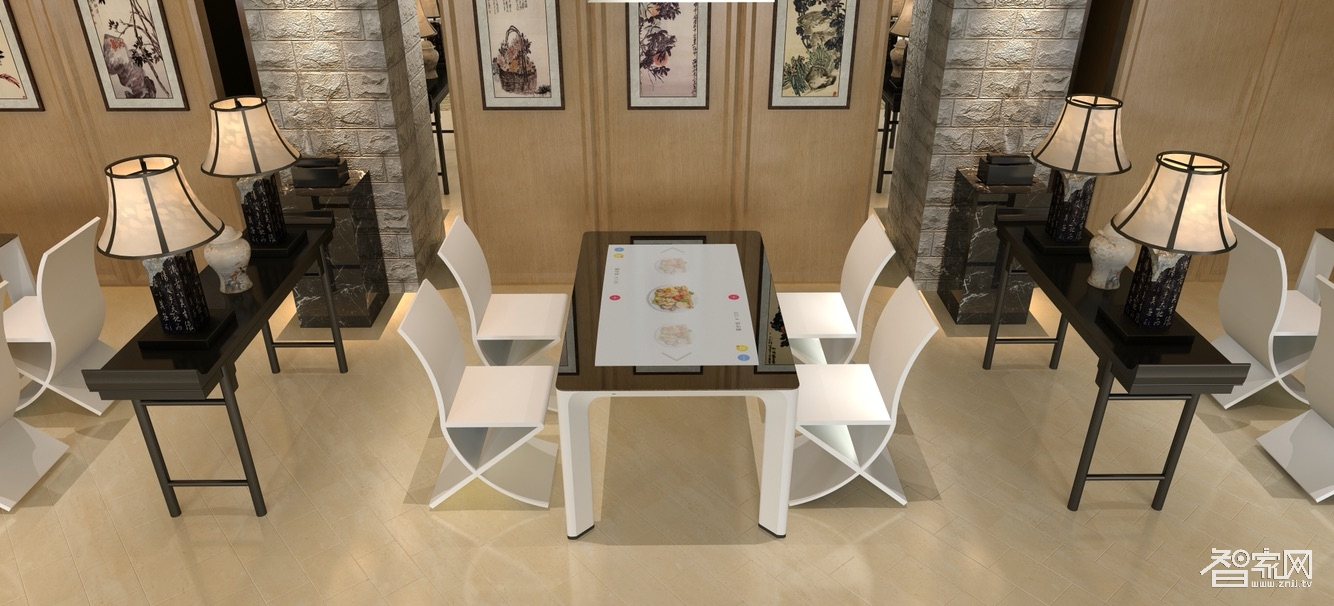 鑫飞21.5寸智能点餐桌智慧餐饮液晶显示器触摸屏智能西餐桌招商加盟