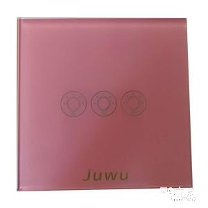 巨屋物联智能家居玻璃粉色智能开关JW-10