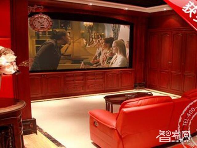 智悦顶级私人影院装修设计案例能体现出电影院的感觉背景图一