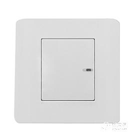 劳沃LOVO单线制/双线制单路智能开关(轻点式-白色)SRL0101-P