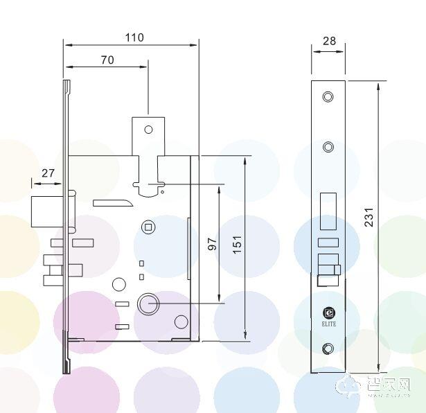 分体感应锁 玫瑰金拉丝 EL228GF-KG-锁芯尺寸.jpg