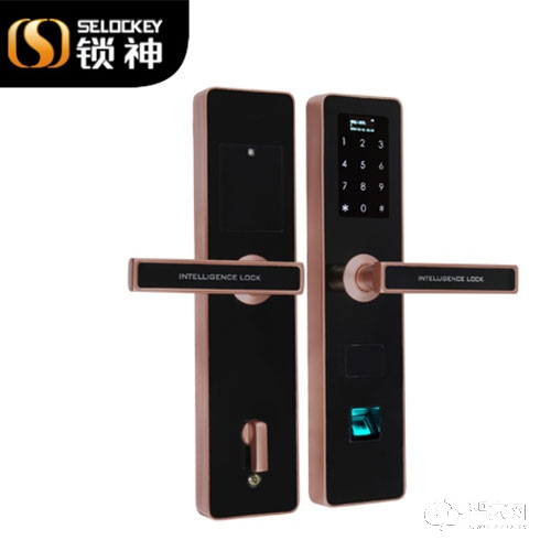 锁神智能锁不锈钢指纹锁 家用门住宅公寓门锁FL22