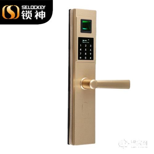 锁神智能锁全不锈钢指纹锁 模块化密码锁FL16