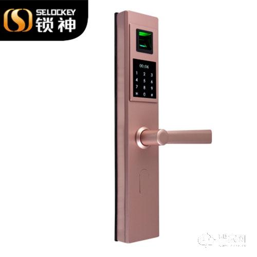 锁神智能锁不锈钢指纹锁 防盗安全锁体FL16