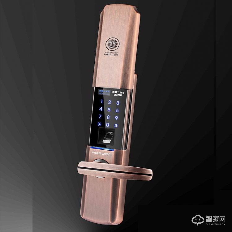 家乐福LSDM-09半导体活体指纹智能锁 锌合金滑盖指纹密码锁LSDM-09