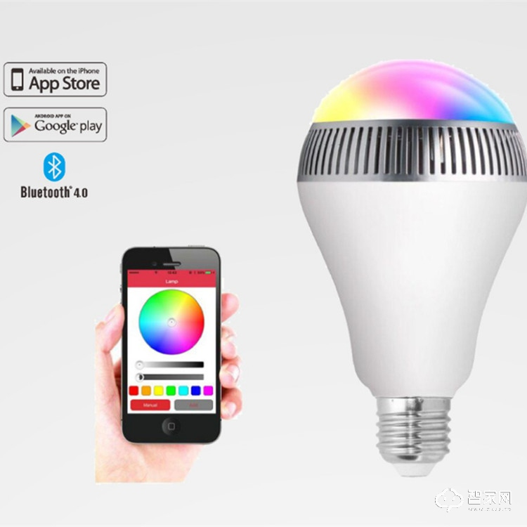 树宝达蓝牙LED智能音响灯 1600万光照颜色su-06b