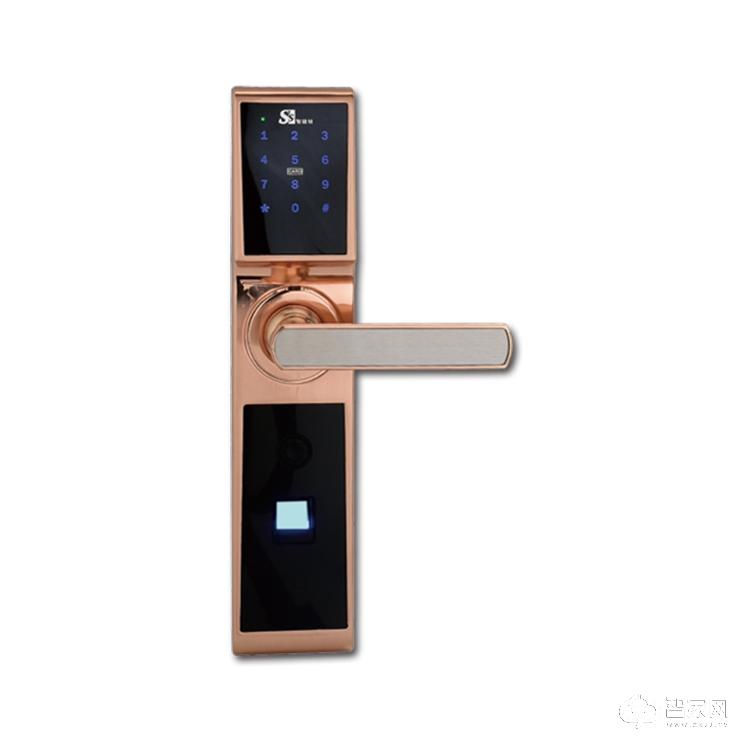 顺景智能锁家用防盗智能指纹锁 酒店电子刷卡锁SJ-MS 顺达