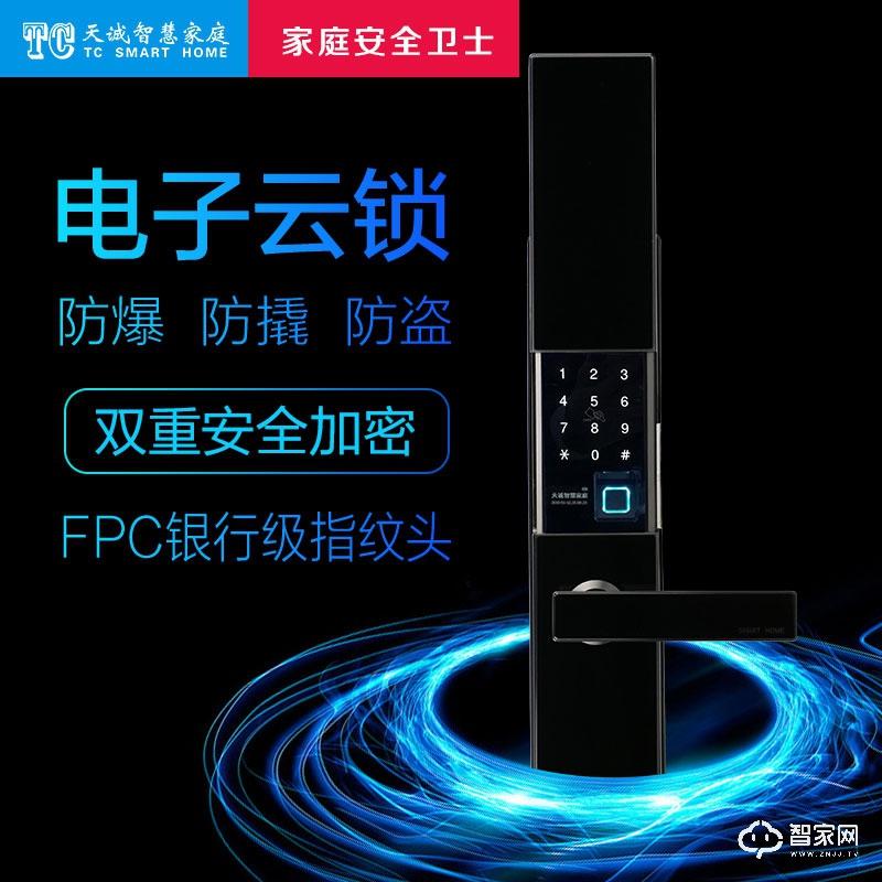 TC天诚智能家居智能门锁  宾莱系列 4种基本开锁方式H-700 (太空灰)