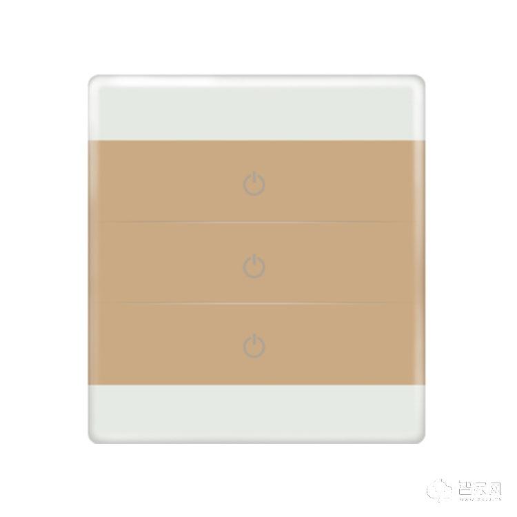 飚志智能家居三键触摸控制开关 纯平面板智能开关V1.0