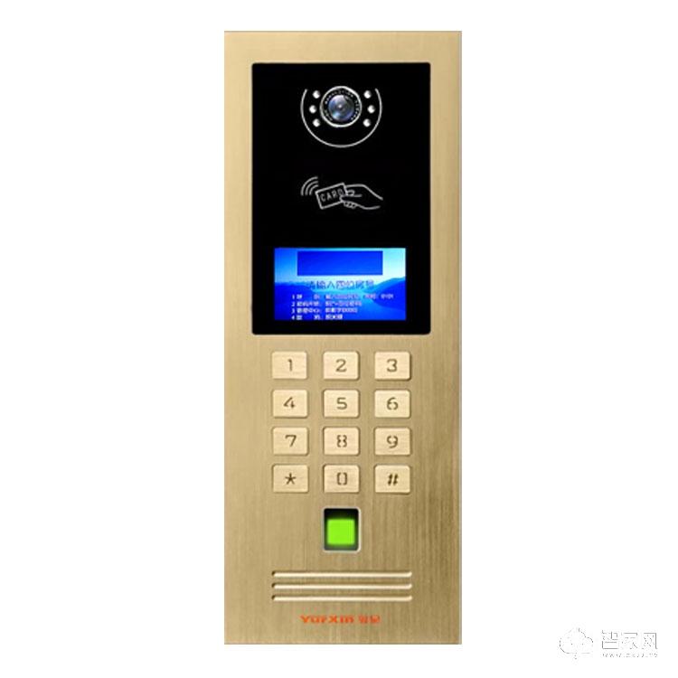 粤星智能安防指纹开锁单元主机 单元楼门禁系统X81-ZW