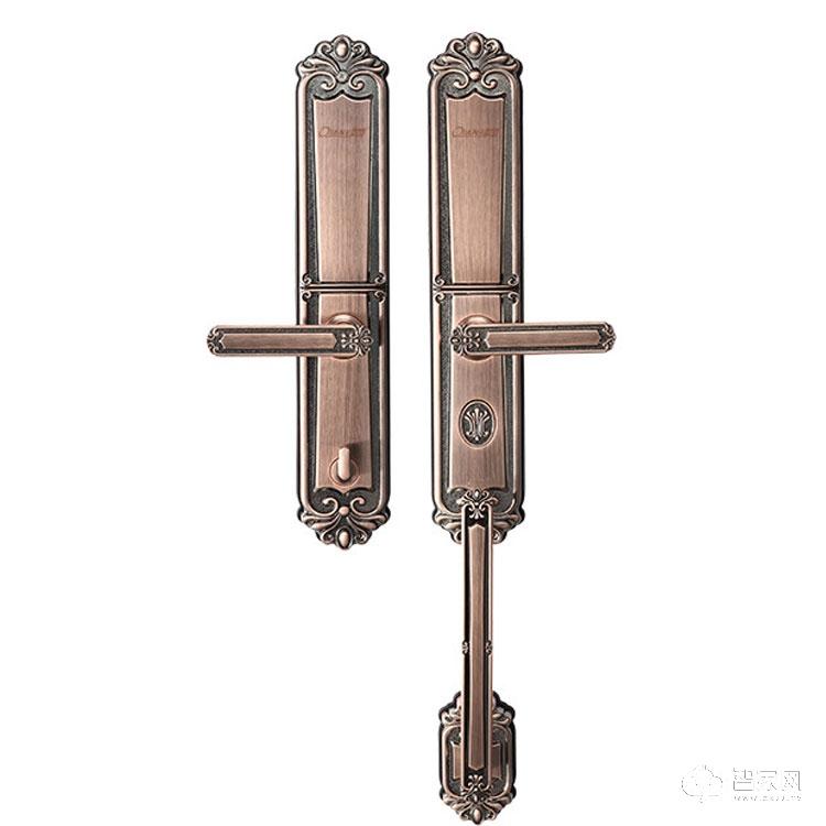 乾锁智能锁别墅公寓智能门锁 欧式智能指纹密码锁Q8