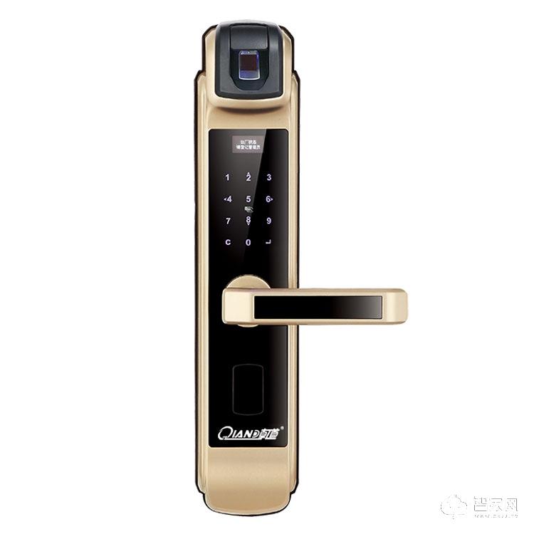 乾锁智能锁高级会所智能指纹锁 住宅别墅智能门锁Q780