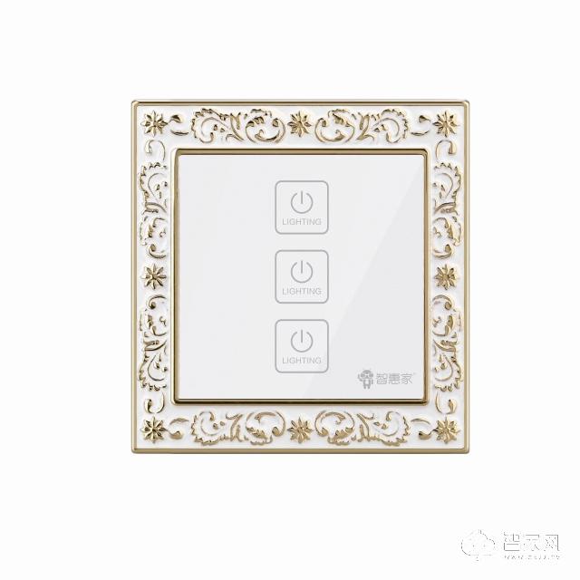 智惠家智臻系列三路零火开关zhjkg-003
