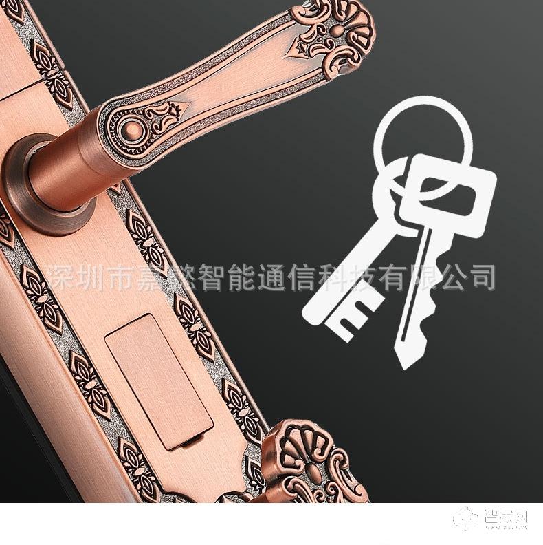 别墅大门指纹锁 豪华拉手智能锁