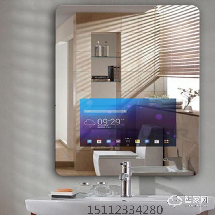 智能电脑电视魔镜显示屏LED灯卫浴智能魔镜 酒店卫浴智能镜面广告机